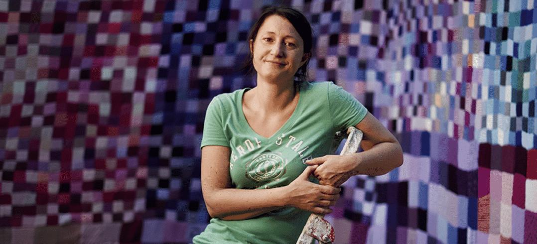 Mathilde Milot, du tricot collaboratif et impressionniste